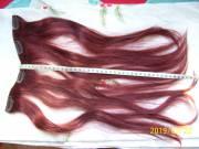 Vörös póthaj csatos/fésűs eladó