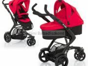 ABC Design 3Tec piros-fekete unisex babakocsi, Isofix autóskonzollal