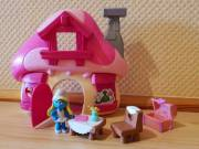 Peyo Hupikék Törpikékből 1db figura házikóval: Smurfette's Mushroom House