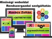 Honlap készítés, rendszergazdai szolgáltatás