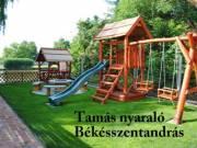 Békésszentandráson a Kákafoki holtágon  közvetlen vízparti gyermekbarát nyaraló kiadó