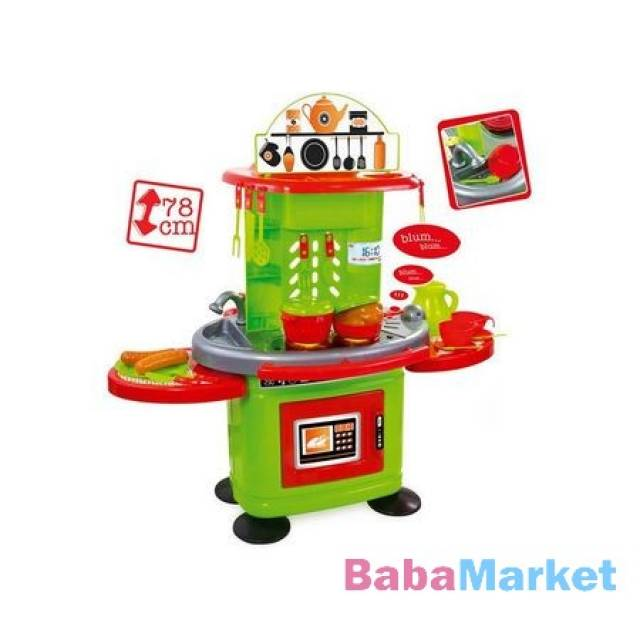 Mochtoys Chefs - Zöld-narancs játékkonyha fénnyel és hanggal - 78 cm ... 436f837209