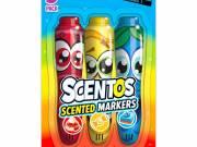 Scentos: 3 darabos illatos filctoll készlet - piros, sárga, kék