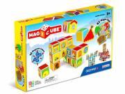 Geomag Magicube - várak és házak 16 darabos mágneses kockaépítő szett
