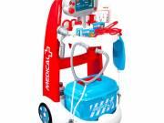 Smoby - doktor játékkocsi tartozékokkal és hangokkal