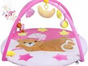 Zenélő játszószőnyeg - PlayTo alvó maci rózsaszín - PLAYTO