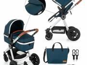 Petite & Mars - Kombinált babakocsi - 2in1 Grand II Platinum Indigo 2020