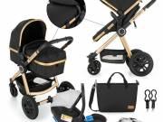 Petite & Mars - Kombinált babakocsi - 3in1 Grand II Golden Ebony 2020