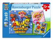 Ravensburger: Mancs őrjárat Super kutyi hősök 3 x 49 darabos puzzle