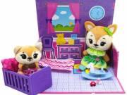 Tiny Tukkins: Cuddle n' Play játékszett 2 db plüssfigurával - róka