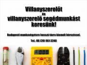Villanyszerelő és villanyszerelő segédmunkás