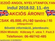 ANGOL NYELVTANFOLYAM 45.000.-Ft./ 60x45 perc