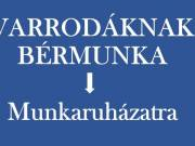 Munkaruha varrására