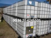 IBC 1000 literes élelmiszeres műanyagtartályok eladók!