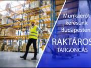 Budapestre keresünk RAKTÁROS TARGONCÁS kollégákat!