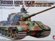 Tamiya 35164 1/35 Scale Model tank Kit WWII German King Tiger Production Turret