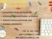 Online angol- spanyoloktatás