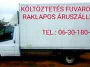 Költöztetés Fuvarozás Raklaposáru szállítás