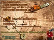 Tüzifa összevágása, Korhadt/élő fák kidöntése, Bozót irtás