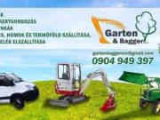 Kertépítés ,Kertgondozás,Gépi földmunkák
