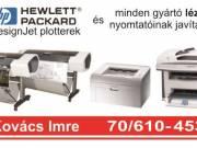 HP DesignJet plotter és minden gyártmányú lézernyomtató javítása Pécs