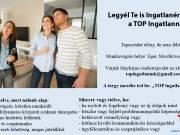 A TOP Ingatlan Mk értékesítési munkatársakat keres  Eger, Mezőkövesd és Miskolc térségébe.