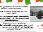 Munkalehetőség Veszprémben ingyenes szállással