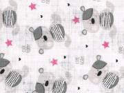 Textil pelenka 1db - Maci #rózsaszín