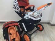 FreeON Style 2in1 Babakocsi #fekete-narancssárga Kiállított darab!