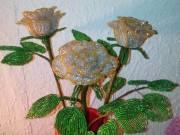 Egyedileg készített kézműves fák és virágok gyögyből