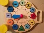 Fajáték Óra-Puzzle, mágneses