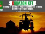 Krimzon Kft. Új és használt zöldség és gyümölcsfeldolgozó gépek, zöldség-gyümölcs forgalmazása.