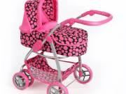 Multifunkciós játék babakocsi PlayTo Jasmínka rózsaszín (a csomagolás sérült) - PLAYTO