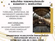 Kiállítási teremfelügyelőt keresünk Budapest I. kerületébe